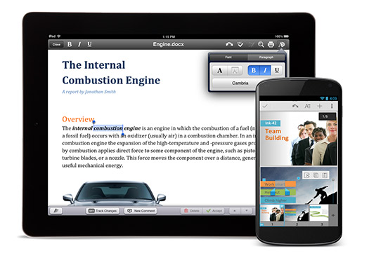 Google  Quickoffice Android y iOS