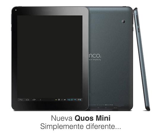 Quos Mini tablet con Android 4.2 ya en México a precio accesible