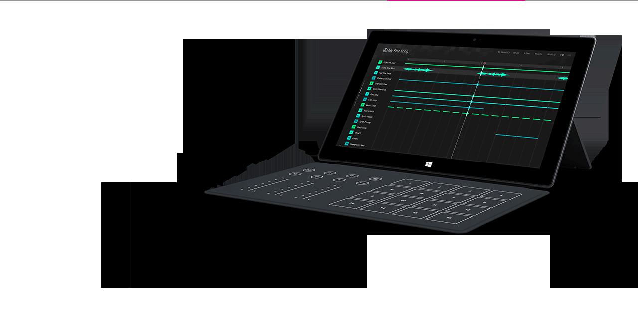 Microsoft Surface 2 Music Kit