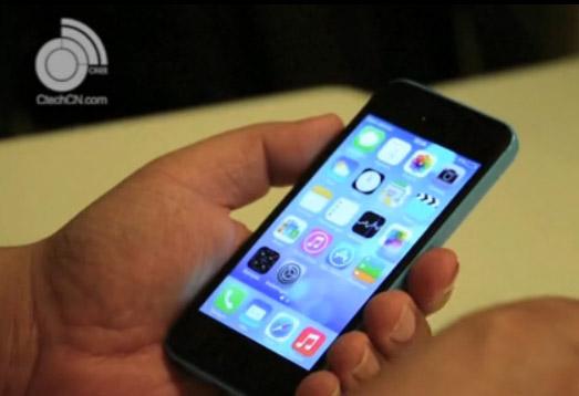 Video iPhone 5C color azul funcionando