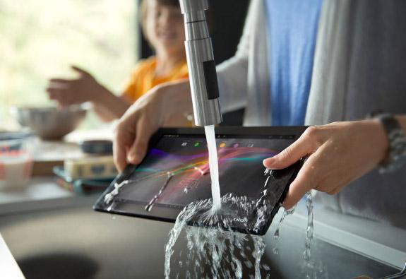 Xperia Tablet Z Kitchen Edition contra agua