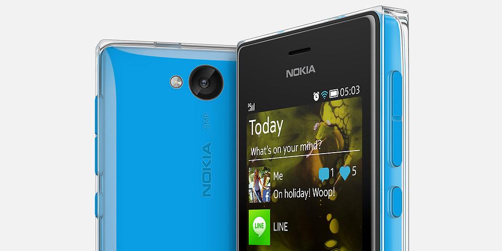 Nokia Asha 503 color azul con Crystal-clear