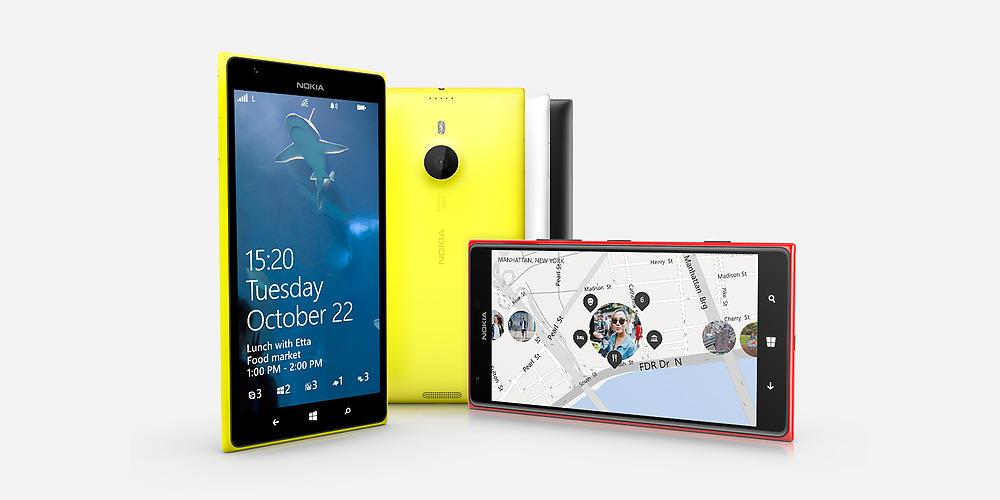 Nokia Lumia 1520 oficial colores amarillo rojo negro