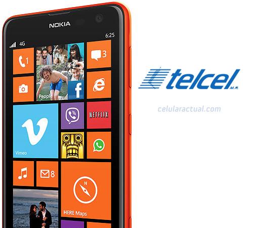 Nokia Lumia 625 en México con Telcel Logo