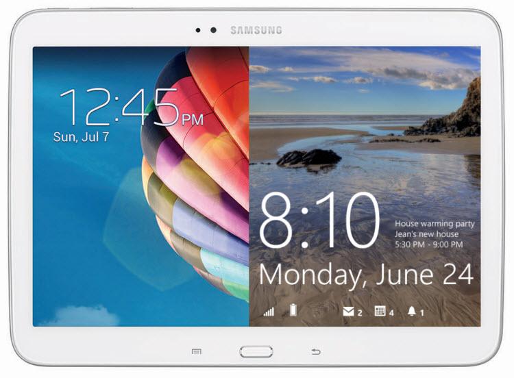 Samsung Galaxy Tab 2014 Edition Render Windows RT Android