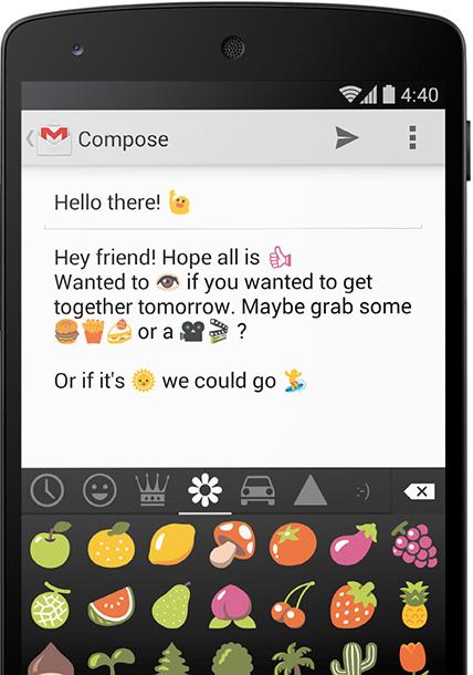 Android KitKat 4.4 Emojis
