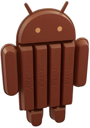 Android KitKat 4.4 oficial chocolate barra