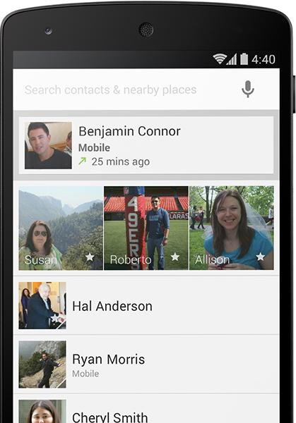 Android KitKat 4.4 nuevo dial inteligente