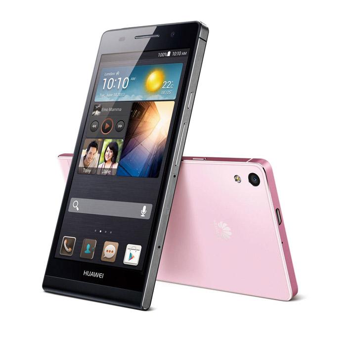 Huawei Ascend P6 en México color negro pantalla HD color rosa y negro