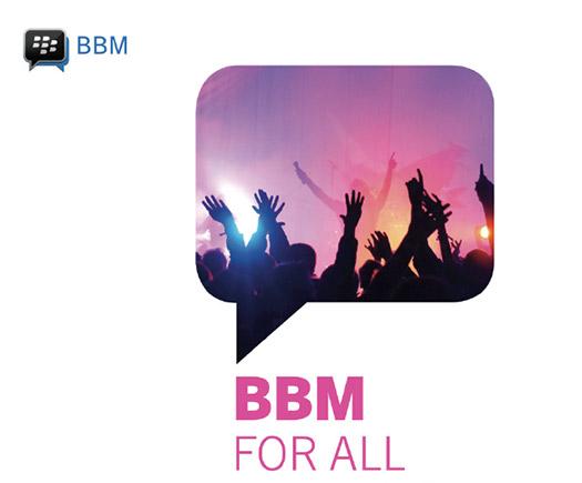 BBM para todos BlackBerry Messenger para Android y iOS iPhone