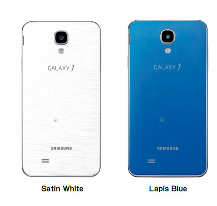 Samsung Galaxy J color blanco y azul