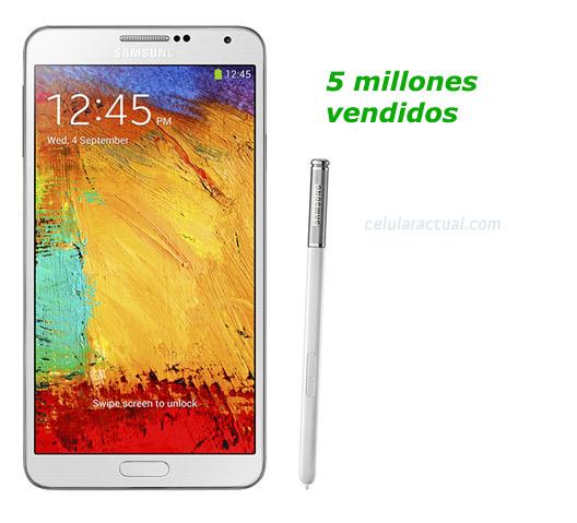 Samsung Galaxy Note 3  5 millones vendidos