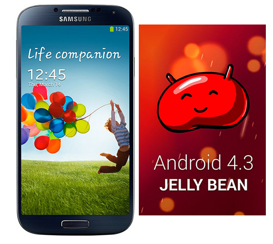 Galaxy S4 con Android 4.3 Jelly Bean