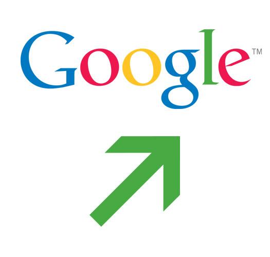 Google Logo flecha arriba