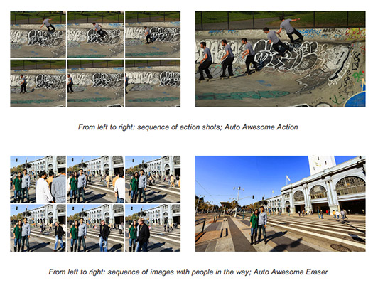 Google+ Auto Awesome Action y Auto Awesome Eraser