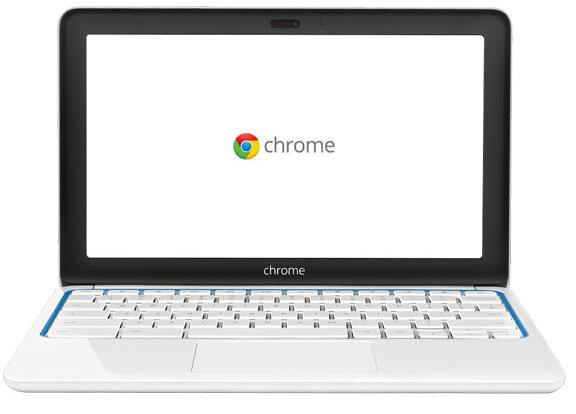 HP Chromebook 11 con Chrome OS color blanco azul