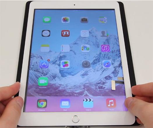 iPad 5 en Video espacio para el Sensor de Huellas Digitales