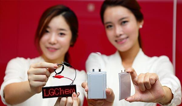 LG Baterías curvas