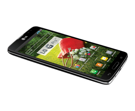 LG G Pro Lite color negro acostado