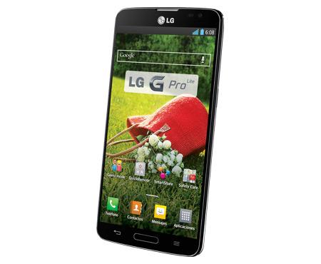 LG G Pro Lite color negro pantalla de lado