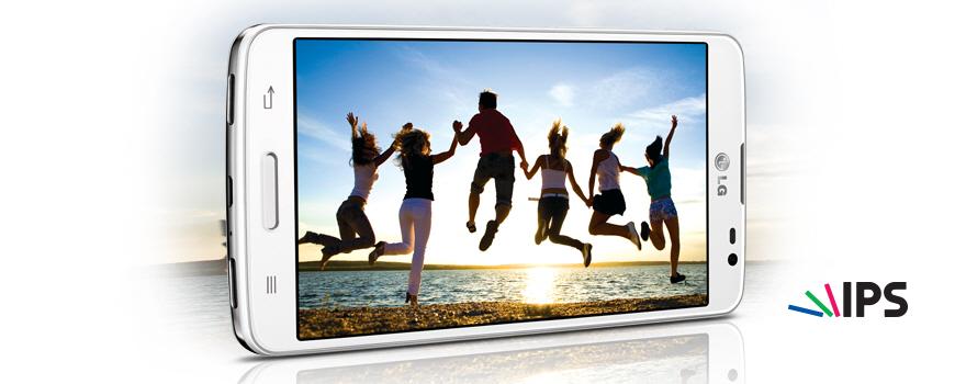 LG G Pro Lite color negro pantalla IPS en toma