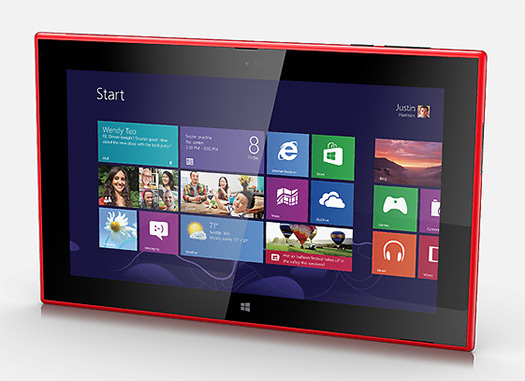 Nokia Lumia 2520 tablet Windows RT rojo