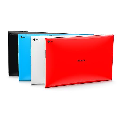 Nokia Lumia 2520 tablet Windows RT colores negro, azul, blanco y rojo