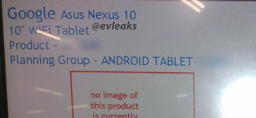 Nexus 10 rumor de ASUS