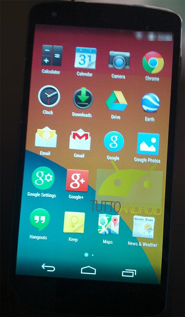 Nexus 5 con Android 4.4 KitKat Apps pantalla