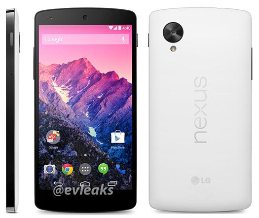 El Nexus 5 será lanzado el 1 de noviembre en colores Negro y Blanco