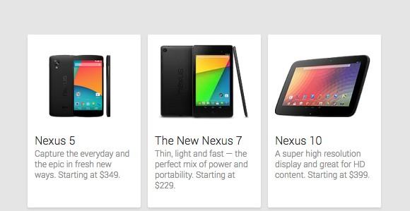 LG Nexus 5 offical Google Play Store con precio