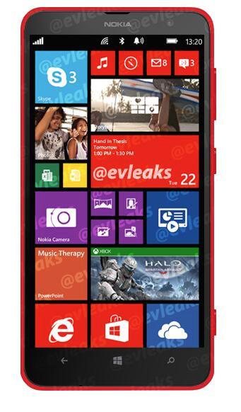 Nokia Lumia 1320 frente