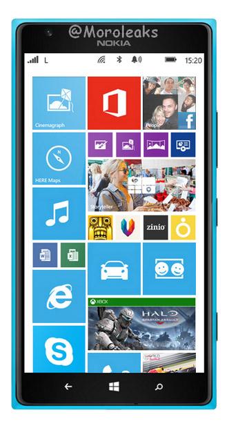 Nokia Lumia 1520 Cyan azul cian