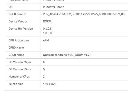 Nokia Lumia 525 resultados de rendimiento bench