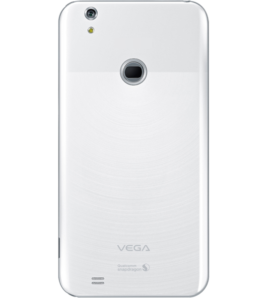 Pantech Vega Secret Note color blanco cámara trasera