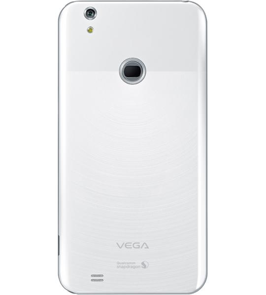 Pantech Vega Secret Note color blanco cámara trasera