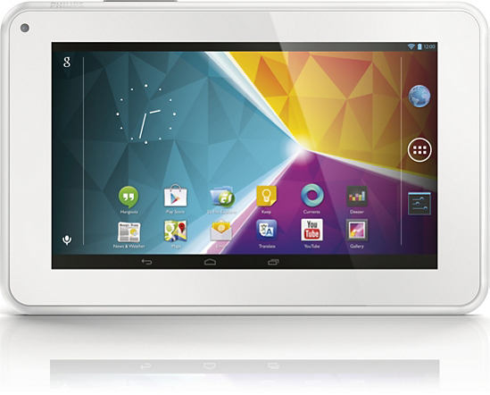 Philips 7 tablet con Android Jelly Bean en México Pantalla