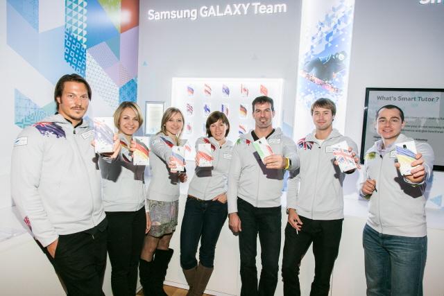 Samsung Galaxy Note 3 el teléfono oficial de Juegos Olímpicos de Sochi 2014 con Atletas