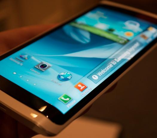 Samsung Pantalla OLED curva flexible prototipo