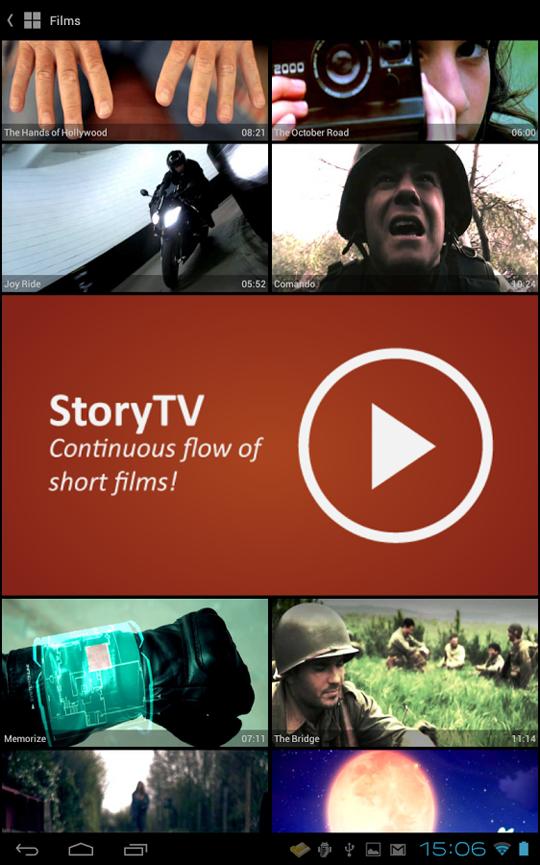 app storypod short films
