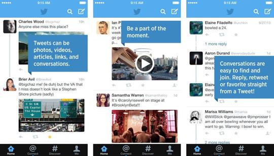Twitter añade vista previa de fotos y vídeos en la línea de tiempo en iOS