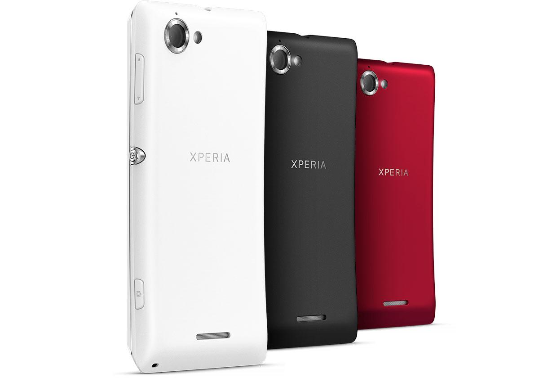 Sony Xperia L en México con Iusacell color blanco, negro y rojo