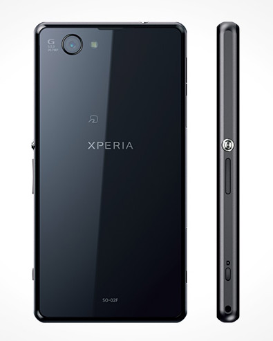 El Xperia Z1 f color negro cámara de 20.7 MP