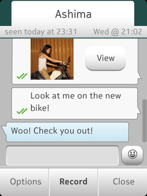 Captura de WhatsApp en Nokia Asha 501