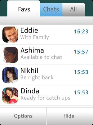 Captura de WhatsApp en Nokia Asha 501 Amigos