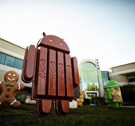 Android 4.4 KitKat estatua mascota