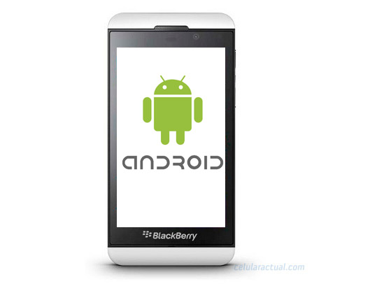 BlackBerry Z10 con Android Logo