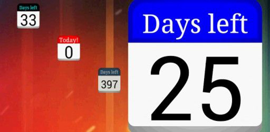 app days left widget