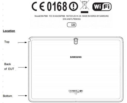 Galaxy Note 12.2 FCC dibujo