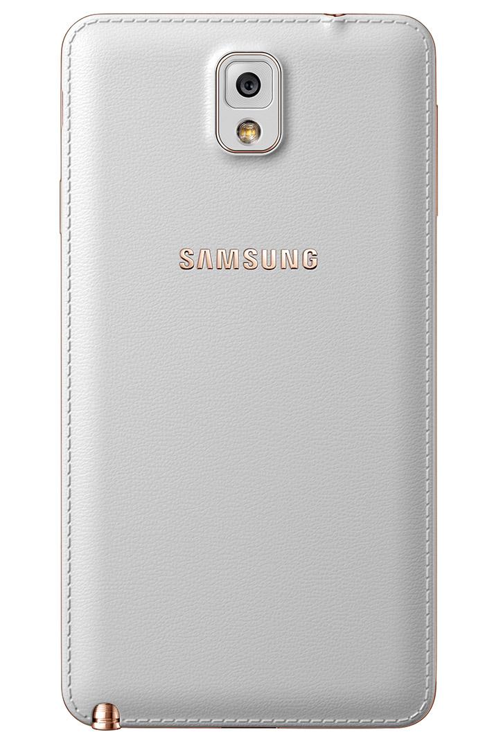El Samsung Galaxy Note 3 color Rosa Oro Rose Gold cámara trasera